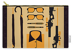 Carry-all Pouch featuring the digital art No758 My Kingsman Minimal Movie Poster by Chungkong Art