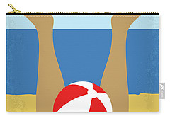 Carry-all Pouch featuring the digital art No765 My Weekend At Bernies Minimal Movie Poster by Chungkong Art