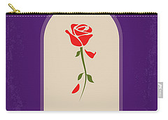 No878 My Beauty And The Beast Minimal Movie Poster Carry-all Pouch