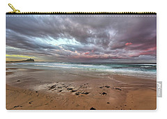 Nobbys Beach At Sunset Carry-all Pouch