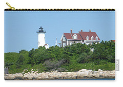 Nobska Point Lighthouse Carry-all Pouch by Donna Walsh