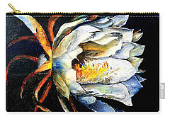 Nocturnal Desert Blossom Carry-all Pouch