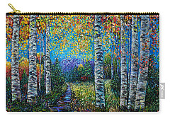Nocturne Blue - Palette Knife Carry-all Pouch