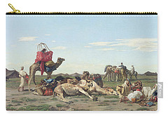 Nomads In The Desert Carry-all Pouch by Georges Washington
