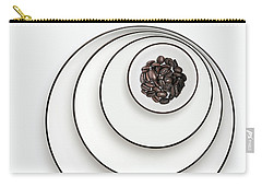 Carry-all Pouch featuring the photograph Nonconcentric Dishware And Coffee by Joe Bonita