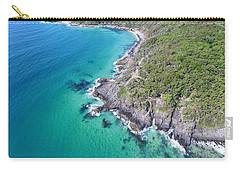 Carry-all Pouch featuring the photograph Noosa National Park Aerial View by Keiran Lusk