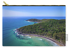Carry-all Pouch featuring the photograph Noosa National Park Coastal Aerial View by Keiran Lusk