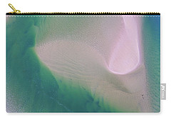 Carry-all Pouch featuring the photograph Noosa River Abstract Aerial Image by Keiran Lusk
