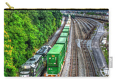 Carry-all Pouch featuring the photograph Norfolk Southern Locomotive 648 Atlanta Train Art by Reid Callaway