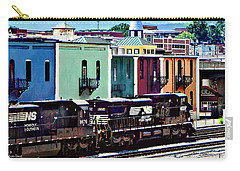 Norfolk Va - Train With Two Locomotives Carry-all Pouch