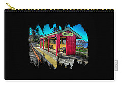 Carry-all Pouch featuring the photograph Norm Laknes Train Station by Thom Zehrfeld