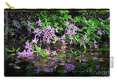 Norris Lake Floral 2 Carry-all Pouch by Douglas Stucky