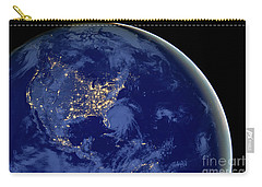 North America From Space Carry-all Pouch by Delphimages Photo Creations