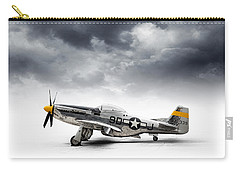 Carry-all Pouch featuring the digital art North American P-51 Mustang by Douglas Pittman