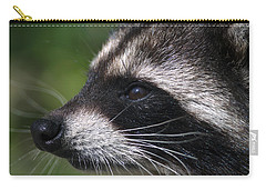 North American Raccoon Profile Carry-all Pouch by Sharon Talson