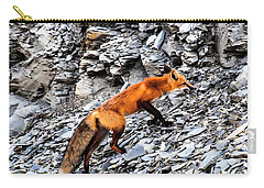 Carry-all Pouch featuring the photograph North American Red Fox by Daniel Hebard