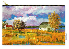 Carry-all Pouch featuring the painting North Bank Of The White Oak River by Jim Phillips