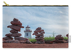 North Cape Lighthouse Behind Stone Cairns Carry-all Pouch