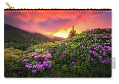 North Carolina Mountains Outdoors Landscape Appalachian Trail Spring Flowers Sunset Carry-all Pouch