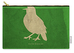 North Dakota State Facts Minimalist Movie Poster Art Carry-all Pouch by Design Turnpike