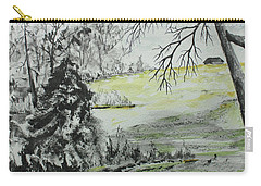 Carry-all Pouch featuring the painting North Forty by Jack G Brauer