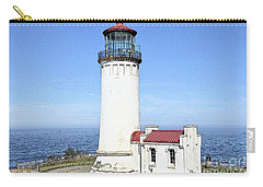 Carry-all Pouch featuring the digital art North Head Lighthouse by Kirt Tisdale