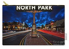 North Park Neon Sign San Diego California Carry-all Pouch by Sam Antonio