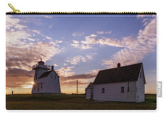 Carry-all Pouch featuring the photograph North Rustico Lighthouse At Sunrise by Chris Bordeleau