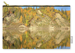 Carry-all Pouch featuring the photograph North Saskatchewan River Reflections by Jim Sauchyn