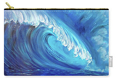 North Shore Wave Oahu 2 Carry-all Pouch by Jenny Lee