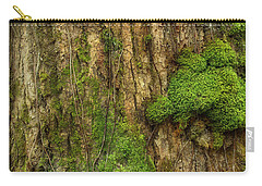 Carry-all Pouch featuring the photograph North Side Of The Tree by Mike Eingle