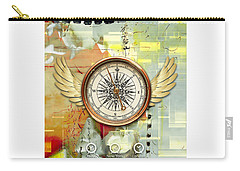 Carry-all Pouch featuring the mixed media North, South, East And West by Marvin Blaine
