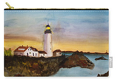 North Truro Light House Cape Cod Carry-all Pouch by Donna Walsh