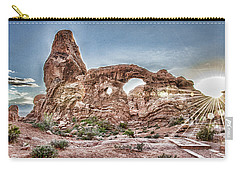 Carry-all Pouch featuring the photograph North Window Sundown Star by Daniel Hebard