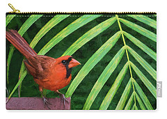 Carry-all Pouch featuring the digital art Northern Cardinal by Christina Lihani