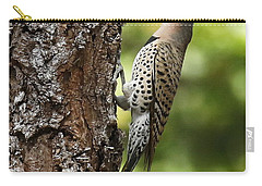 Northern Flicker On The Hunt Carry-all Pouch