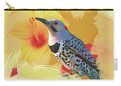 Carry-all Pouch featuring the photograph Northern Flicker Watercolor Photo by Heidi Hermes
