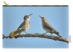 Northern Flickers Communicate Carry-all Pouch by Alan Lenk