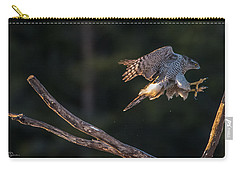 Northern Goshawk's Landing Carry-all Pouch by Torbjorn Swenelius