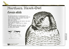 Northern Hawk-owl Infographic Poster Carry-all Pouch