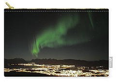 Northern Light In Troms, North Of Norway Carry-all Pouch by Tamara Sushko