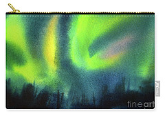 Carry-all Pouch featuring the painting Northern Lights 3 by Kathy Braud