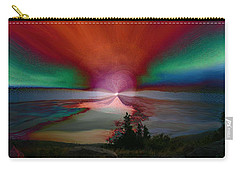 Northern Lights Carry-all Pouch by Linda Sannuti