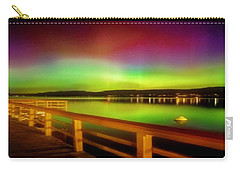 Northern Lights Over Okanagan Lake Canada Carry-all Pouch