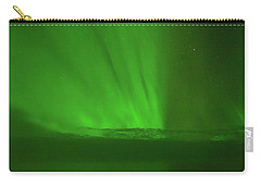 Northern Lights Over The North Atlantic Carry-all Pouch by Allan Levin