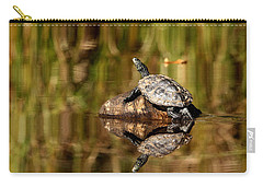 Northern Map Turtle Carry-all Pouch by Debbie Oppermann