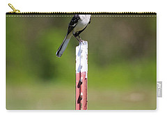 Carry-all Pouch featuring the photograph Northern Mockingbird Posing  by Ricky L Jones