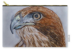 Carry-all Pouch featuring the painting Northern Red Tailed Hawk by Kelly Mills