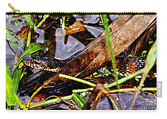 Carry-all Pouch featuring the mixed media Northern Water Snake by Olga Hamilton