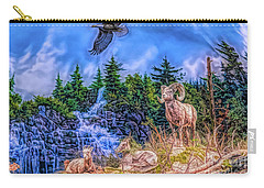 Carry-all Pouch featuring the digital art Northern Wilderness by Ray Shiu